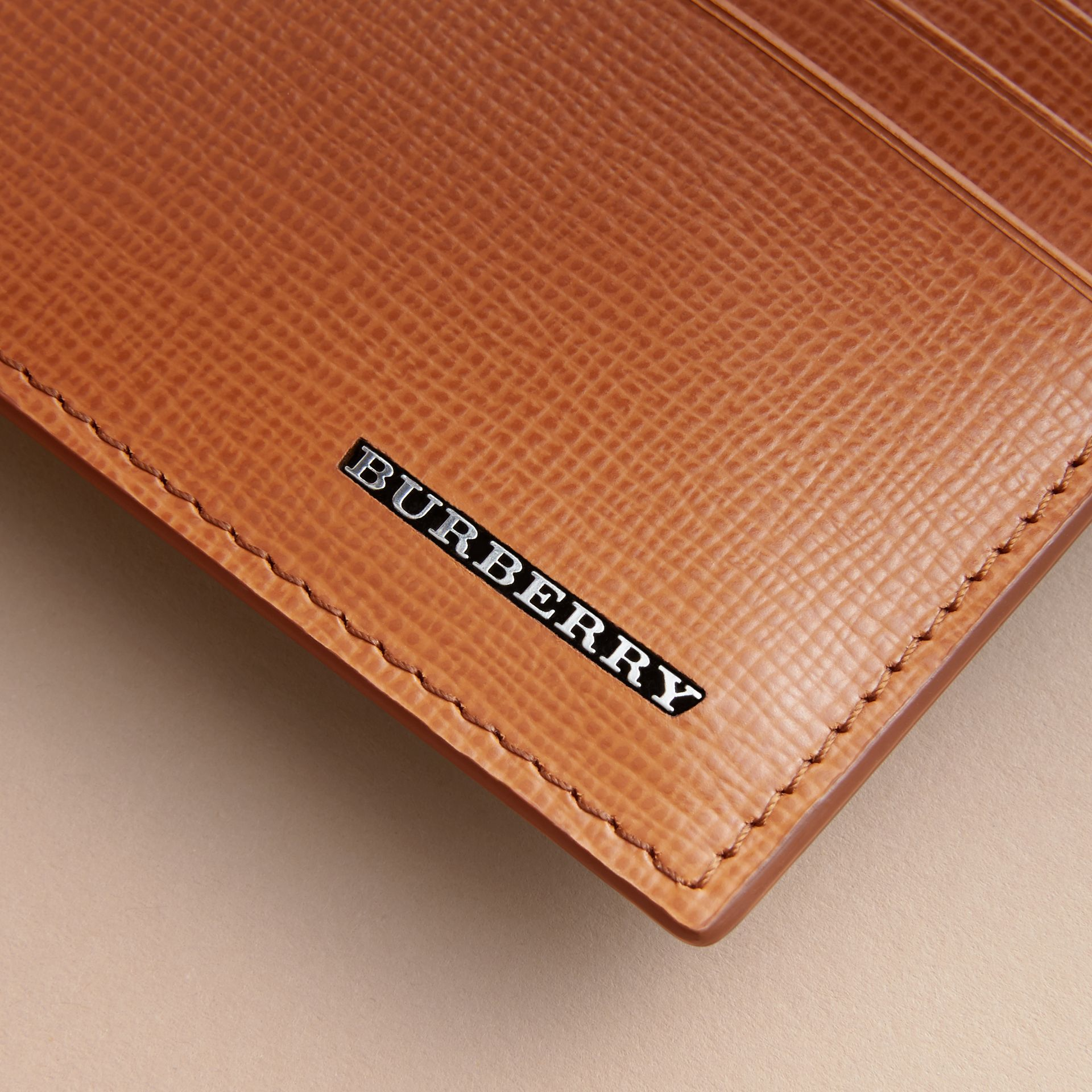 London Leather Card Case in Tan | Burberry - gallery image 2