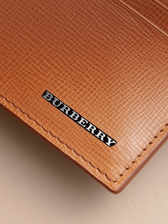 London Leather Card Case in Tan | Burberry Australia - cell image 2