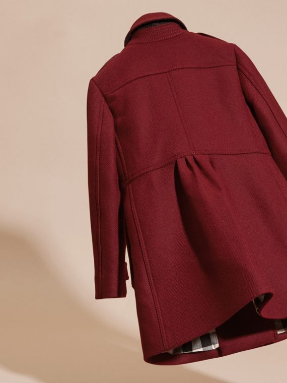 Deep claret Tailored Wool Cashmere Blend Coat Deep Claret - cell image 3