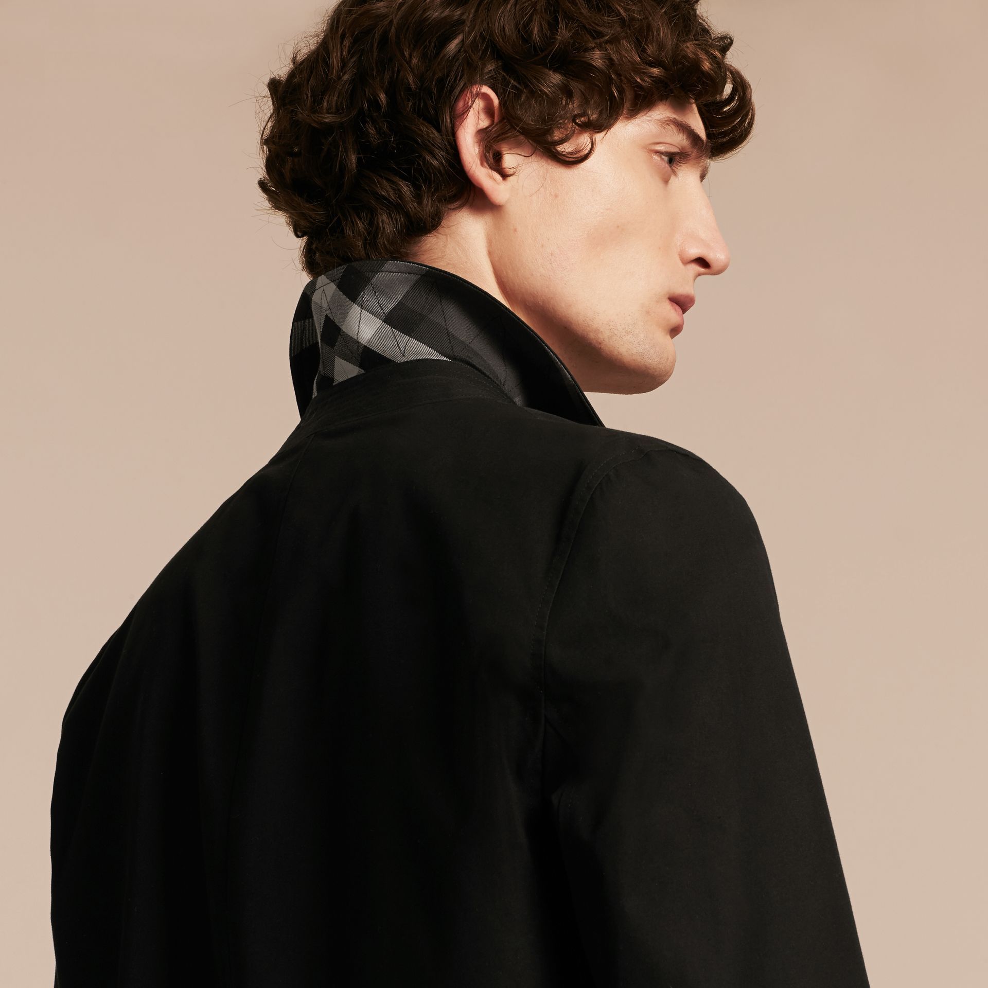 Car Coat with Detachable Mink Collar and Cashmere Warmer - gallery image 6
