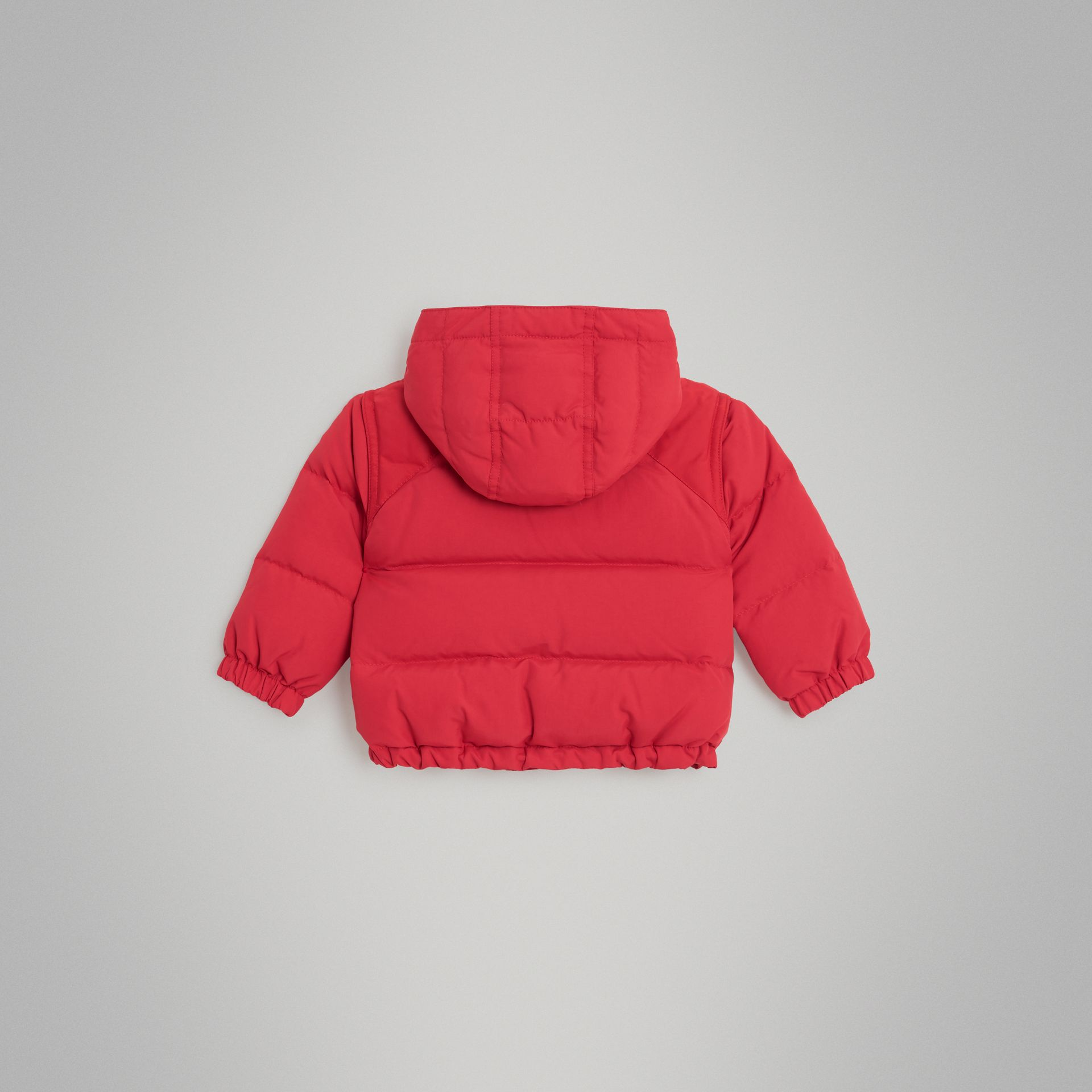 Down-filled Hooded Puffer Jacket in Bright Red - Children | Burberry Australia - gallery image 3