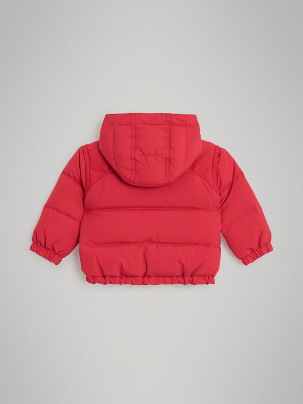 Down-filled Hooded Puffer Jacket in Bright Red - Children | Burberry Australia - cell image 3