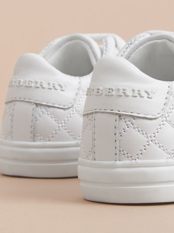 Sneakers en cuir avec ornements check | Burberry - cell image 3