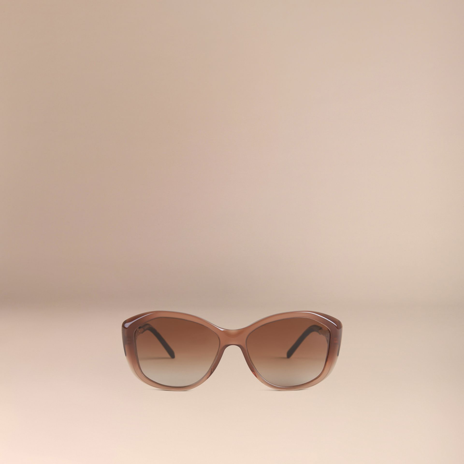 Dark amber Gabardine Lace Collection Square Frame Sunglasses Dark Amber - gallery image 2