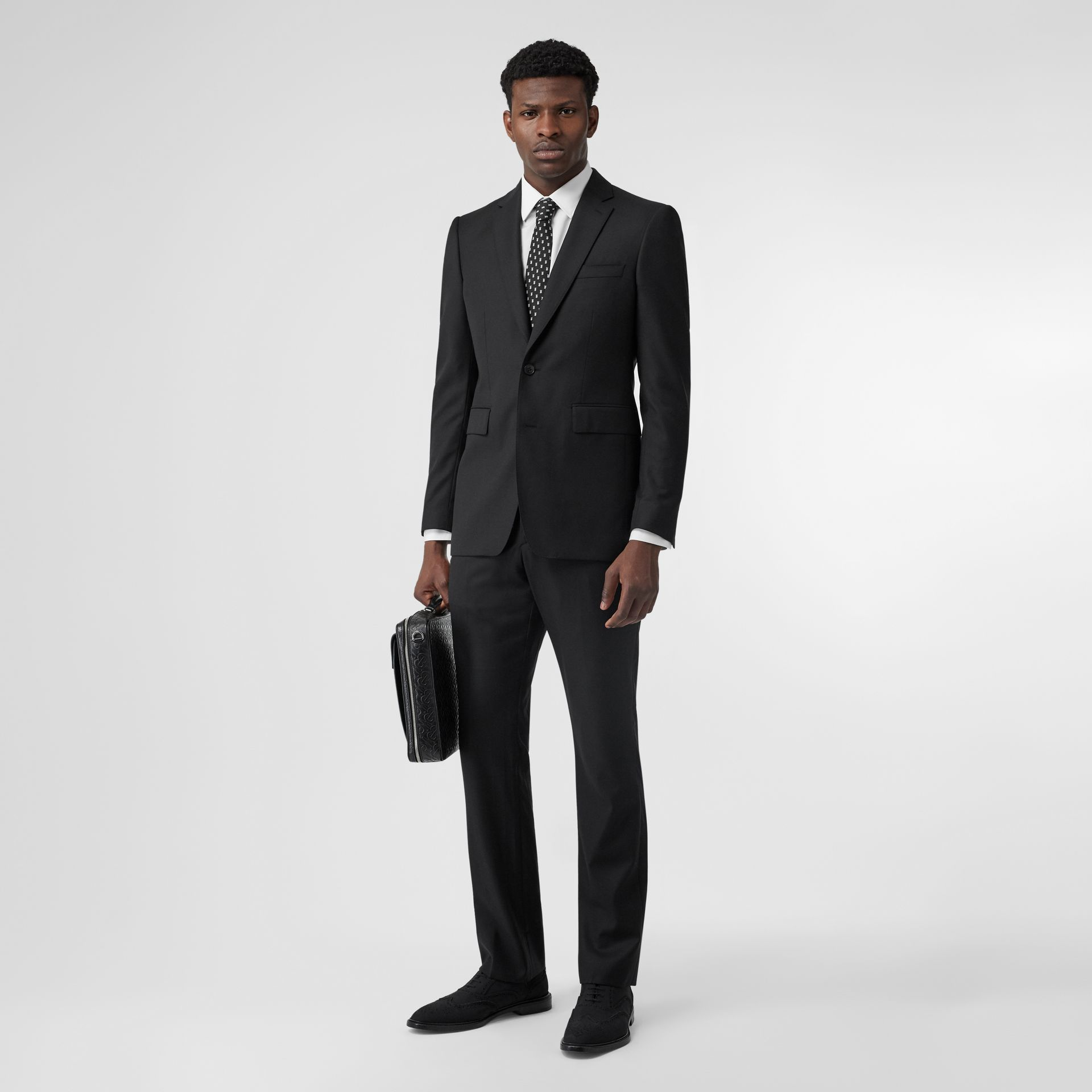Classic Fit Wool Suit in Black - Men | Burberry - gallery image 0