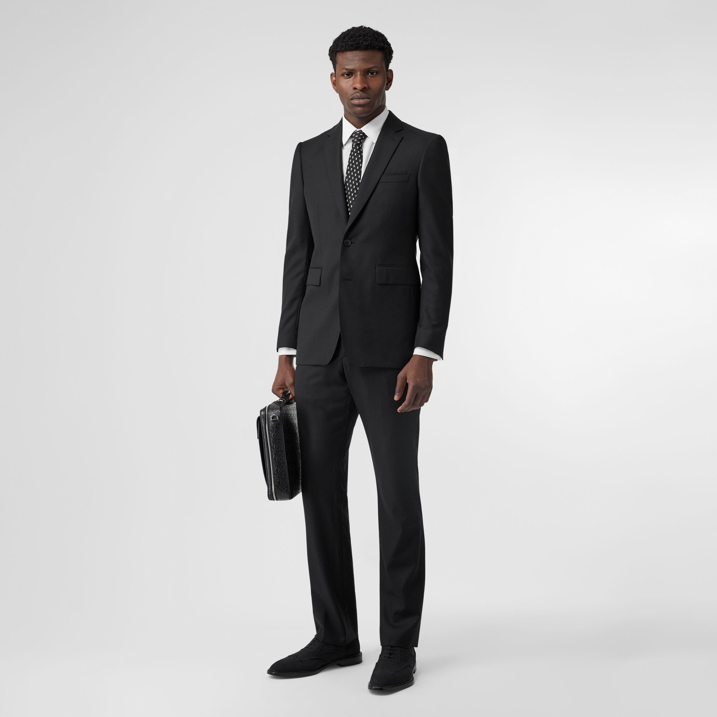 Classic Fit Wool Suit in Black - Men | Burberry - 1