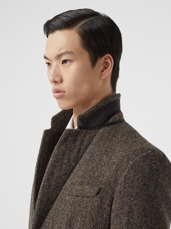 Herringbone Wool Tweed Coat in Brown - Men | Burberry Canada - cell image 1
