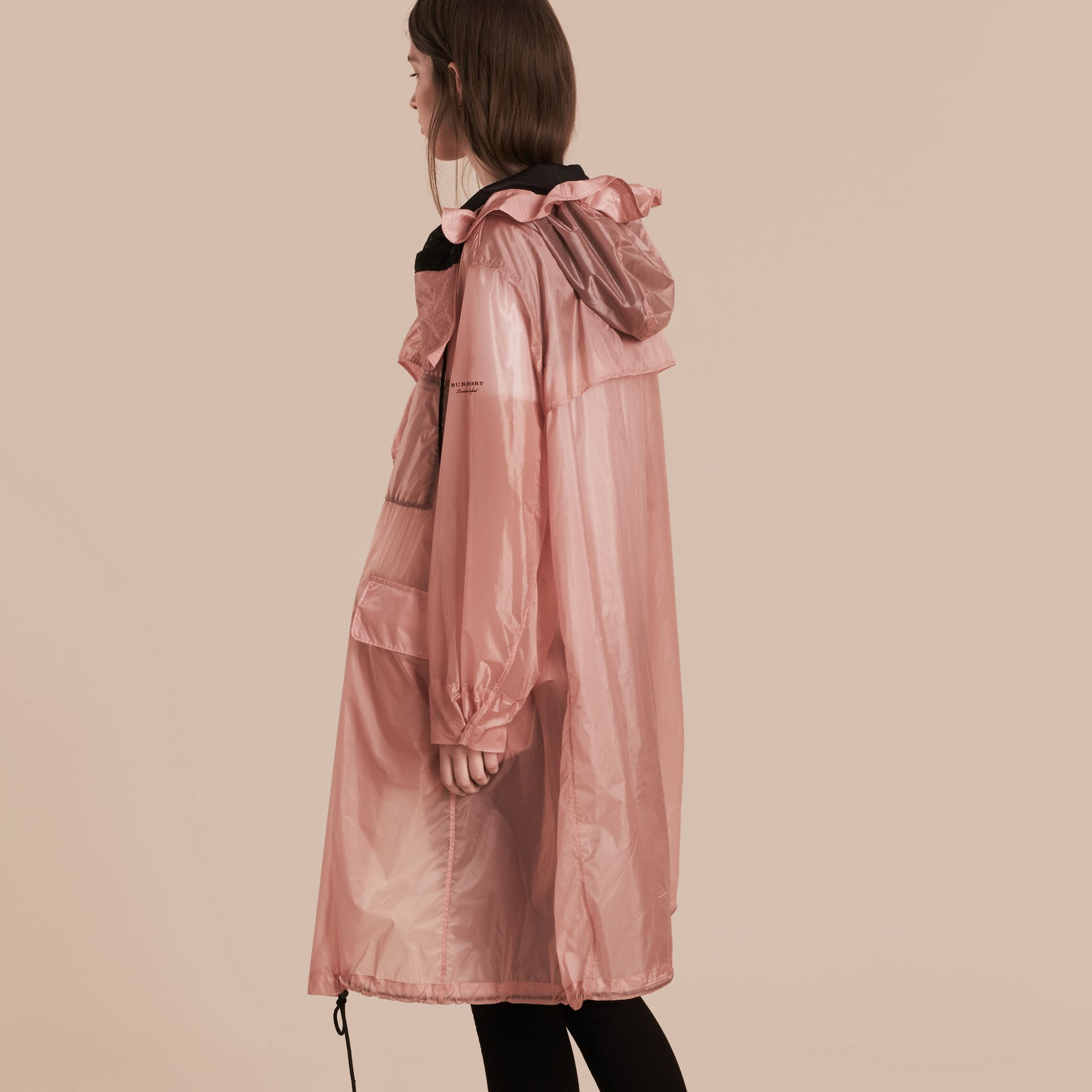 Oversize Technical Packaway Parka with Hood Ash Rose - gallery image 3