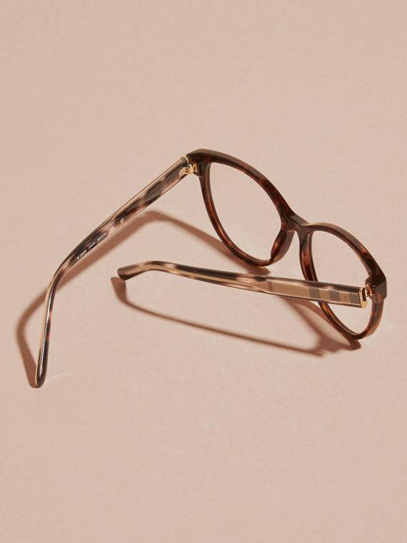 Check Detail Round Optical Frames Light Russet Brown - cell image 3