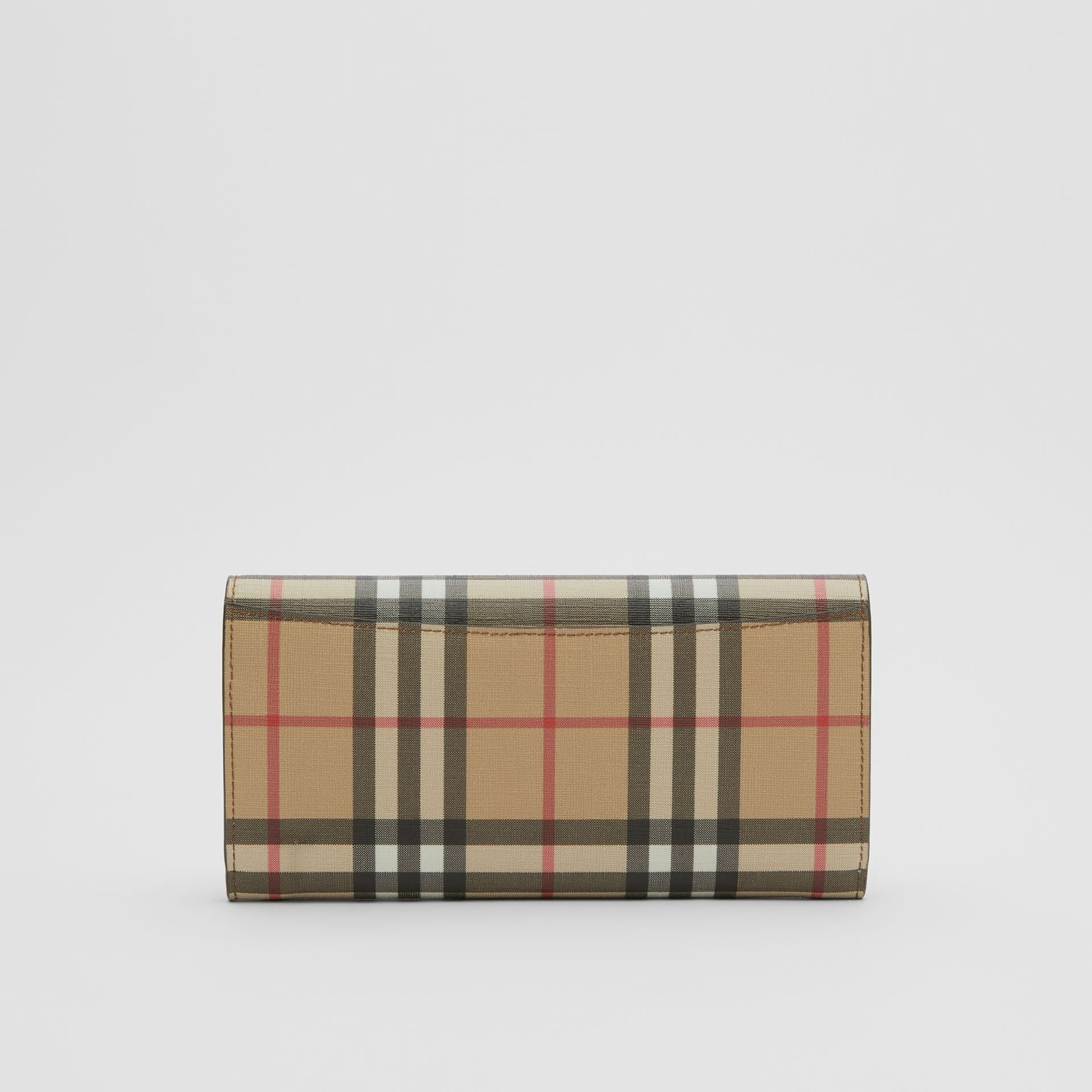 Vintage Check E-canvas Continental Wallet in Malt Brown - Women | Burberry - gallery image 5