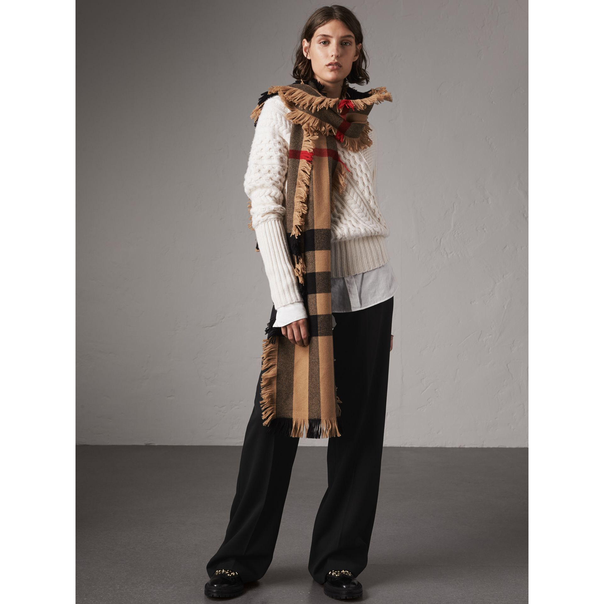Wool Wide-leg Trousers in Black - Women | Burberry Canada - gallery image 0