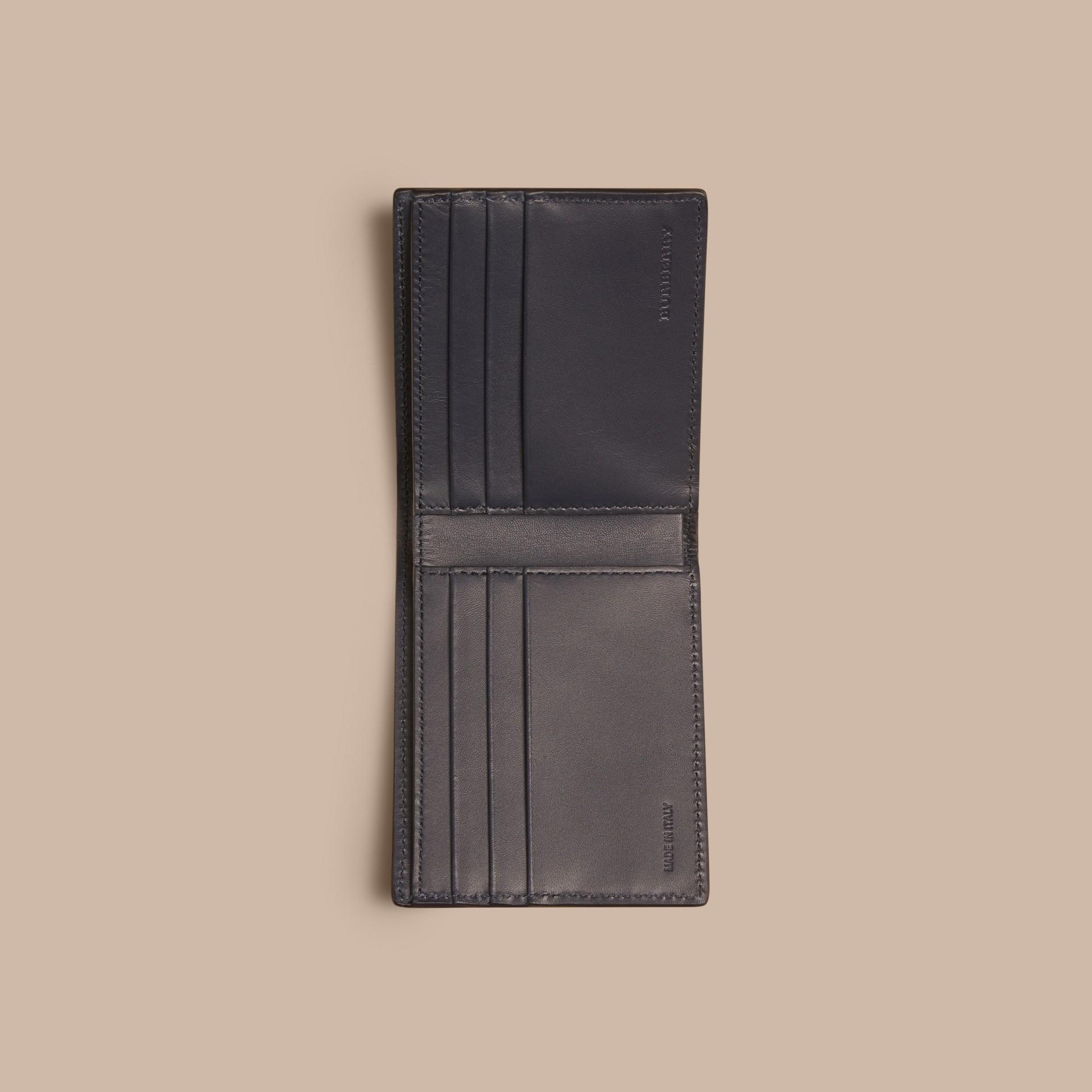 Dark navy London Leather Folding Wallet Dark Navy - gallery image 4