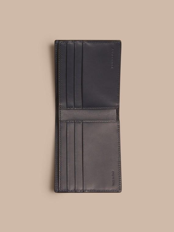 Dark navy London Leather Folding Wallet Dark Navy - cell image 3