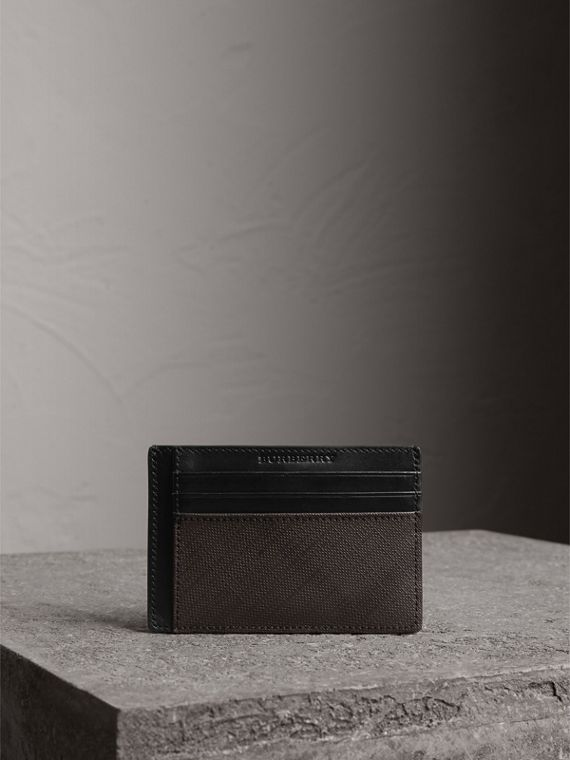 London Check Card Case in Chocolate/black | Burberry - cell image 3