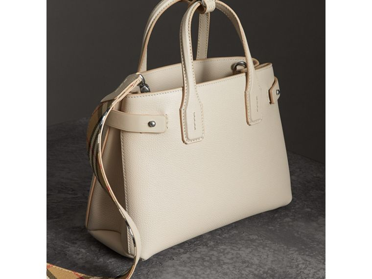 The Small Banner in Leather in Limestone - Women | Burberry Singapore - cell image 4