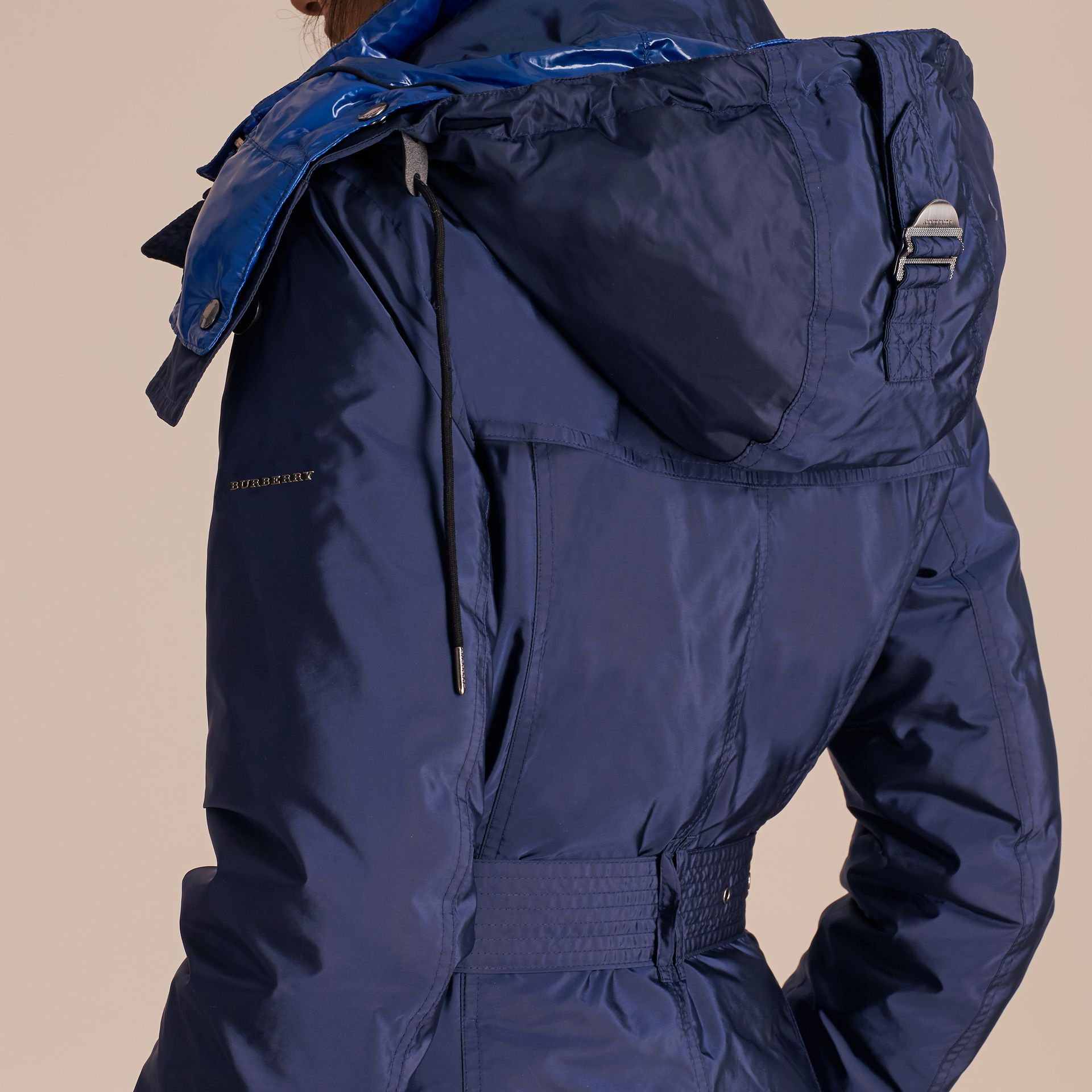 Ink blue Fur-trimmed Parka with Detachable Down-filled Jacket Ink Blue - gallery image 6