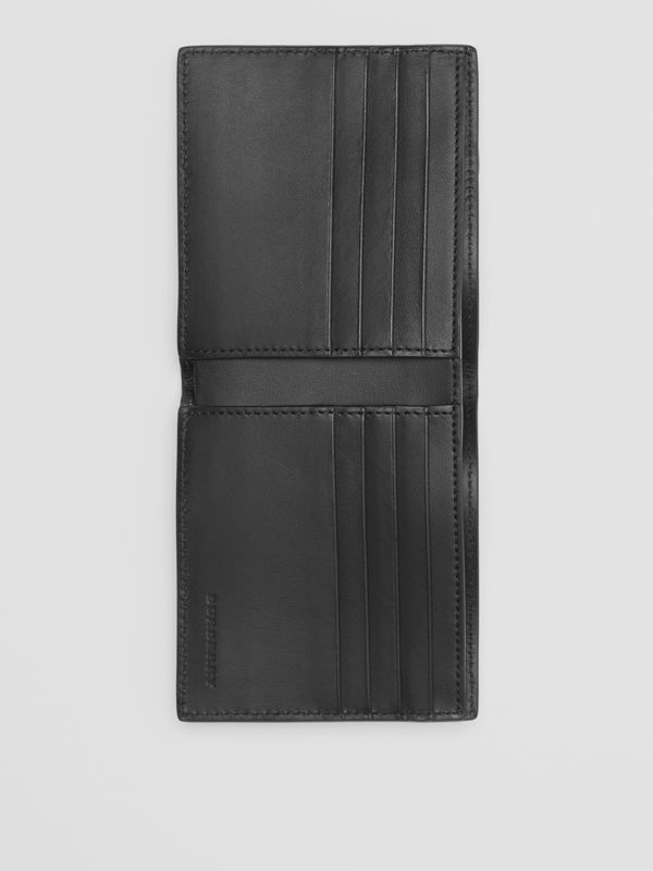 Small Scale Check International Bifold Wallet in Antique Yellow/black - Men | Burberry Canada - cell image 3