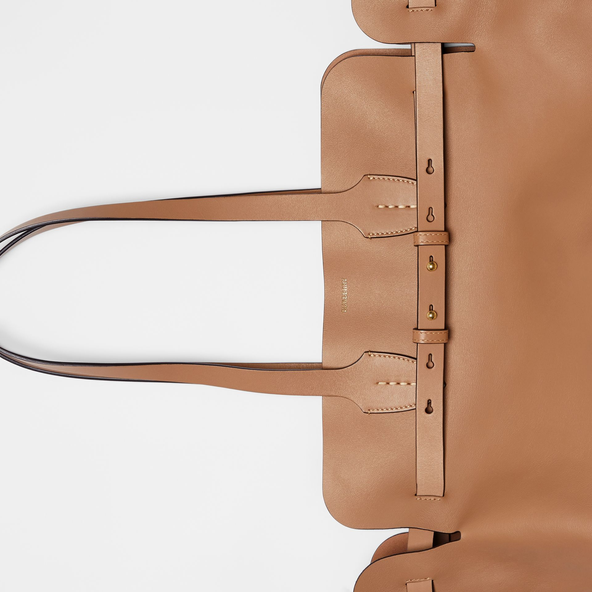 The Medium Soft Leather Belt Bag in Light Camel - Women | Burberry United Kingdom - gallery image 1