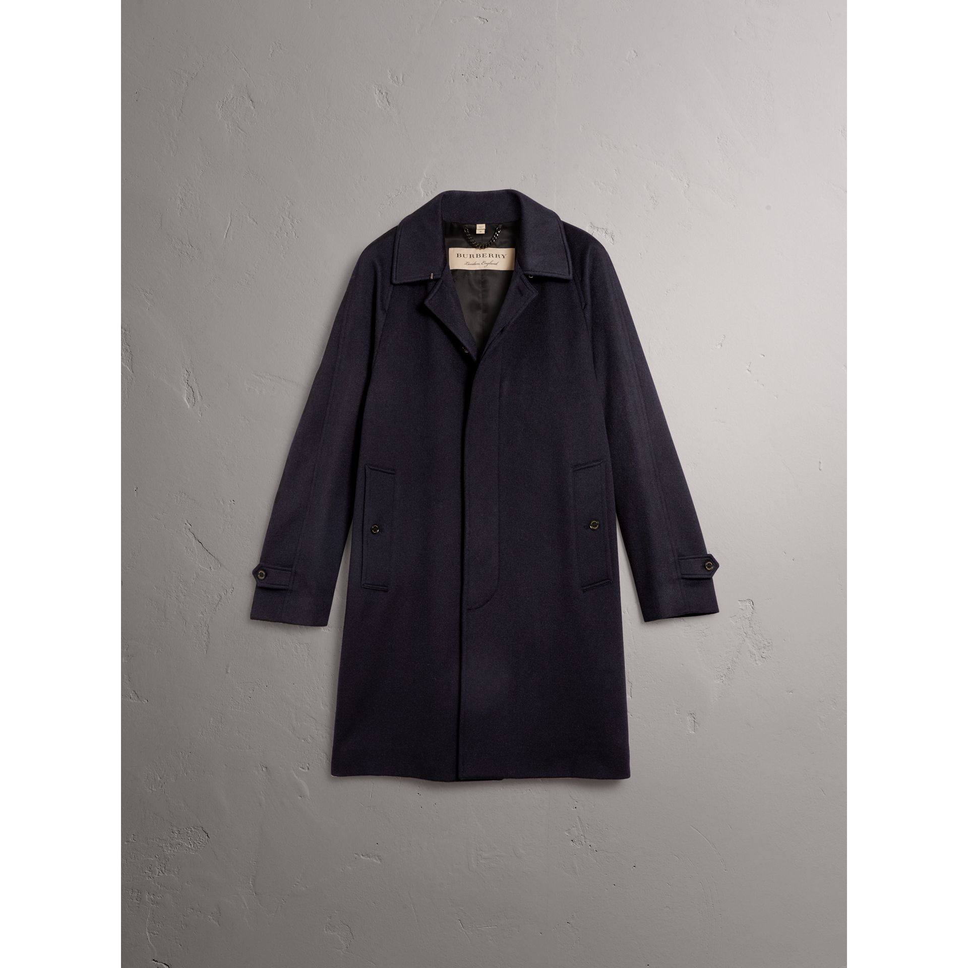 Cashmere Car Coat in Navy - Men | Burberry - gallery image 4