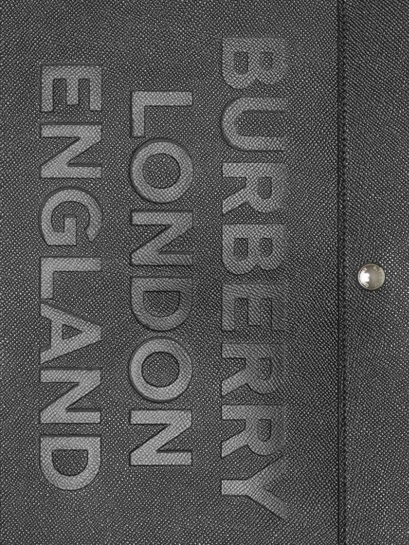 Porte-documents en cuir à triple pression avec logo (Noir) | Burberry Canada - cell image 1