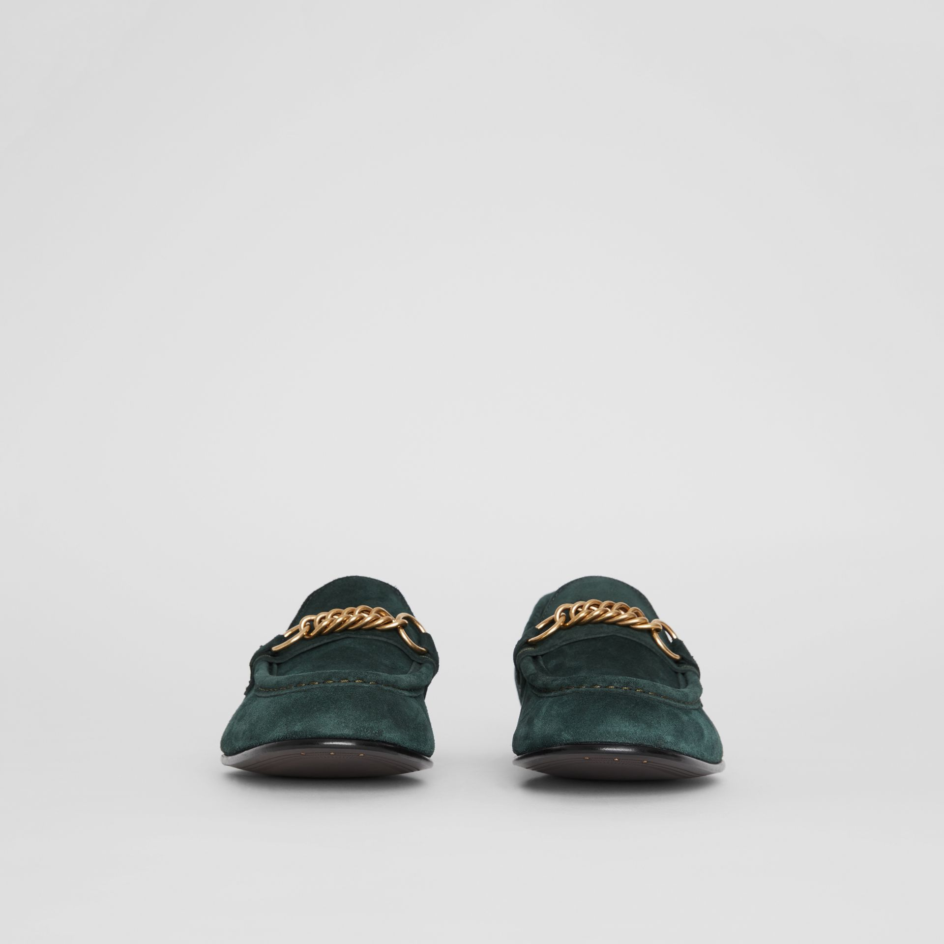 The Suede Link Loafer in Dark Slate Green - Men | Burberry - gallery image 2