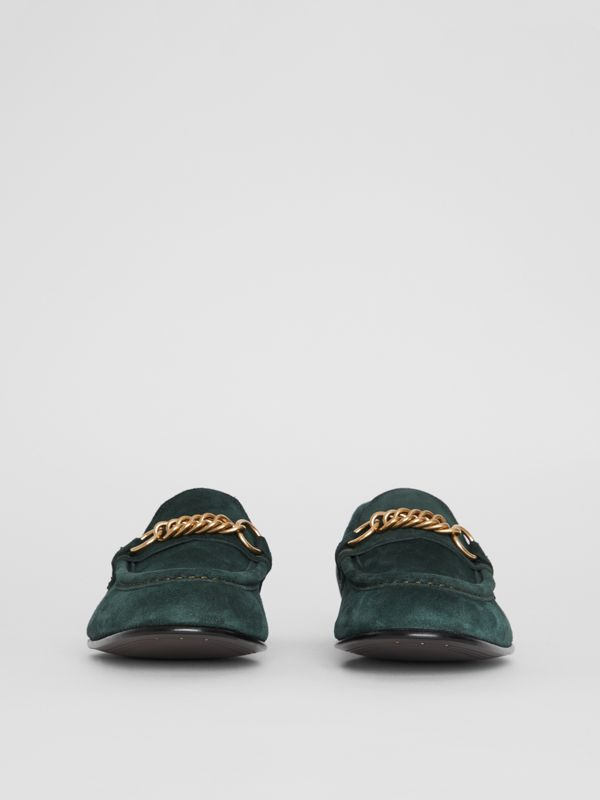 The Suede Link Loafer in Dark Slate Green - Men | Burberry Australia - cell image 3