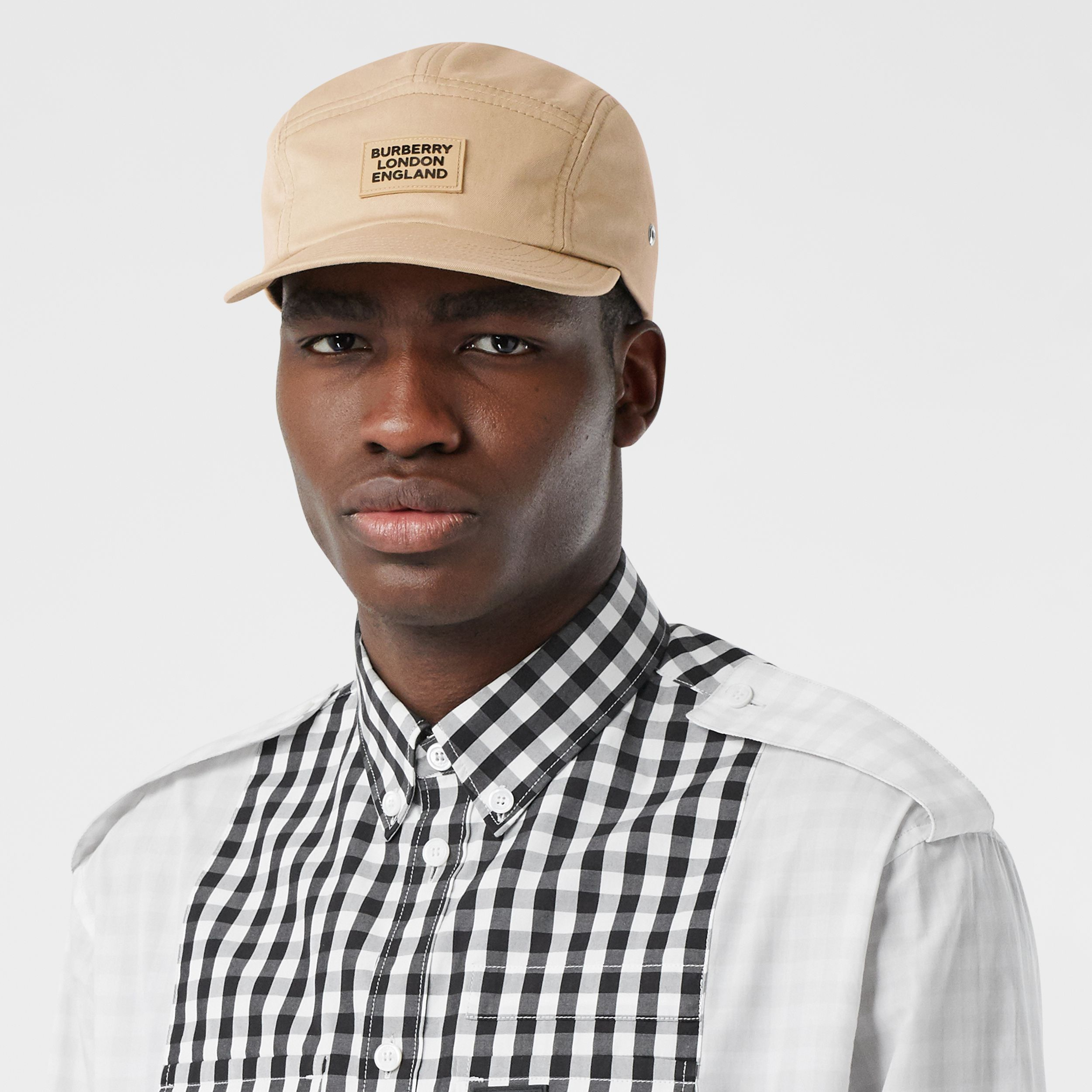 Logo Appliqué Cotton Twill Cap in Soft Fawn | Burberry - 4