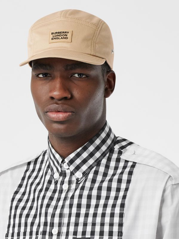 Logo Appliqué Cotton Twill Cap in Soft Fawn | Burberry - cell image 3