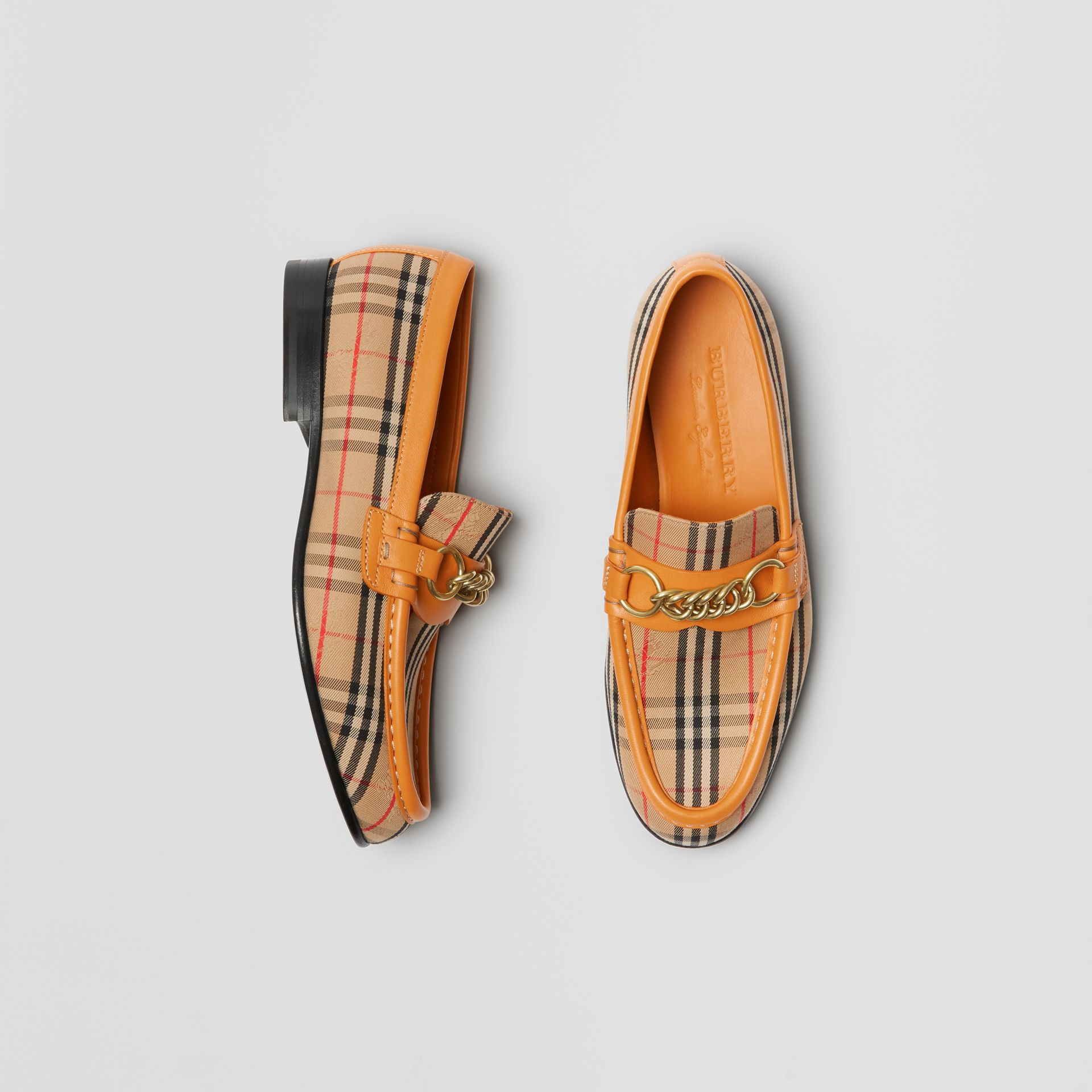 The 1983 Check Link Loafer in Yellow Barley - Women | Burberry - gallery image 0