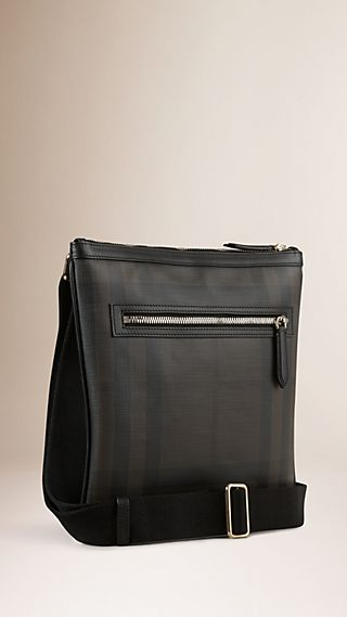 Leather Trim London Check Crossbody Bag