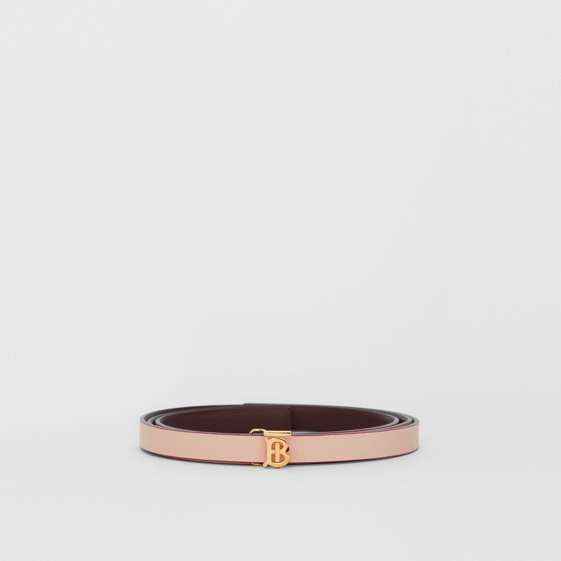 Reversible Monogram Motif Leather Wrap Belt in Oxblood/rose Beige - Women | Burberry - gallery image 6