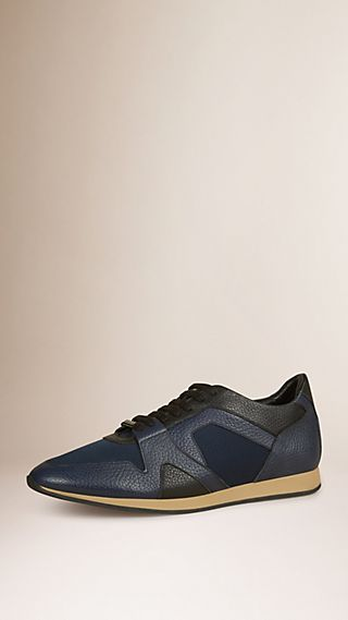The Field Sneaker in Colour Block Leather and Mesh