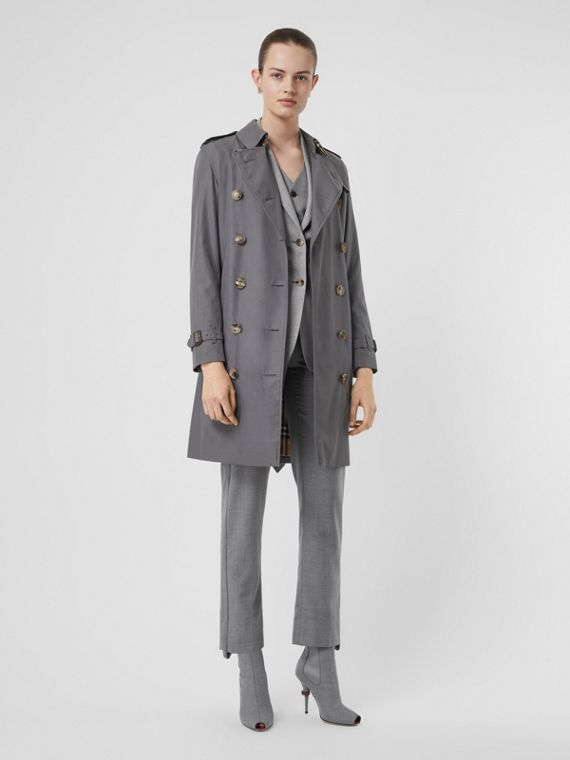 The Kensington Heritage Trench Coat in Mid Grey