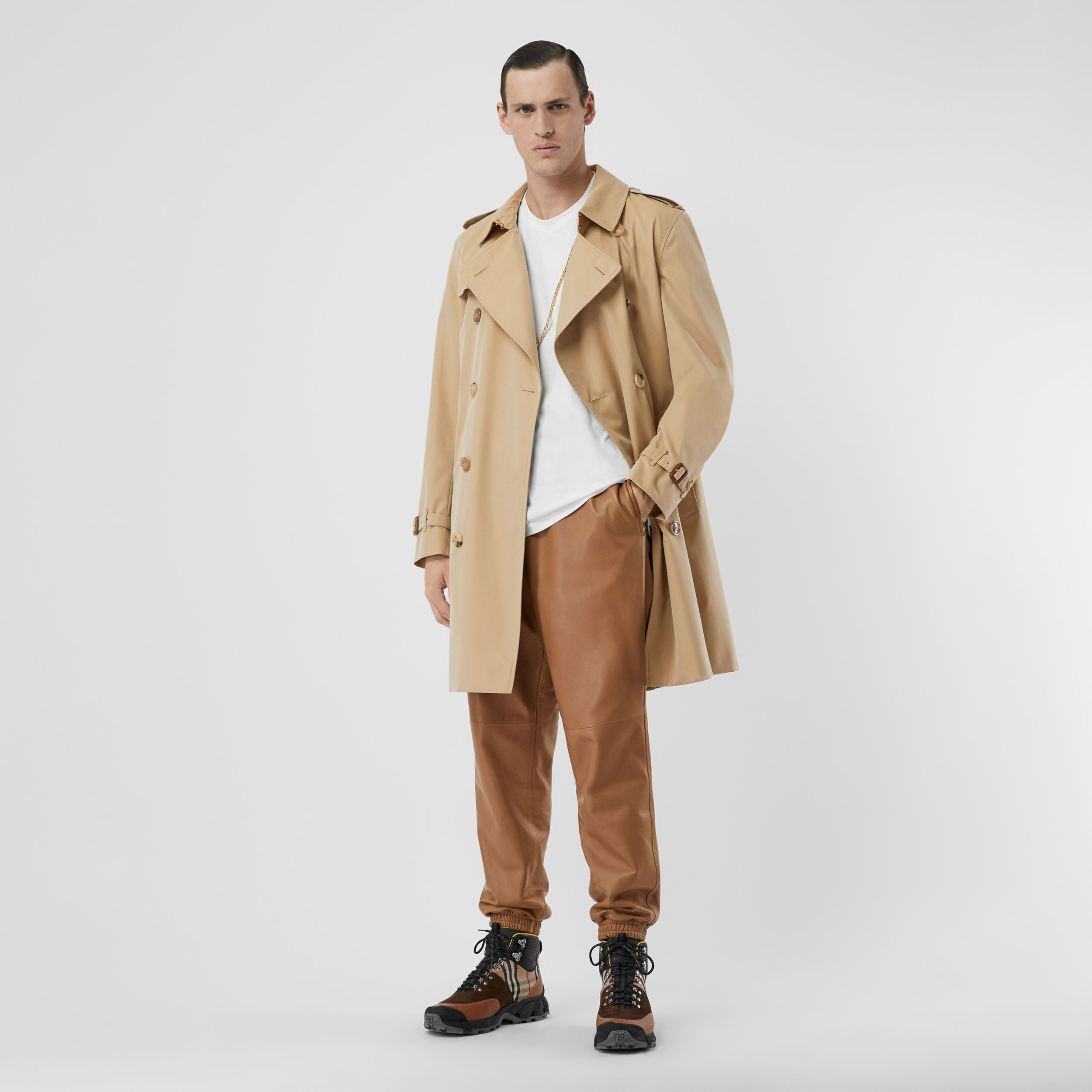 Trench coat Heritage The Kensington medio (Miele) - Uomo | Burberry - 3
