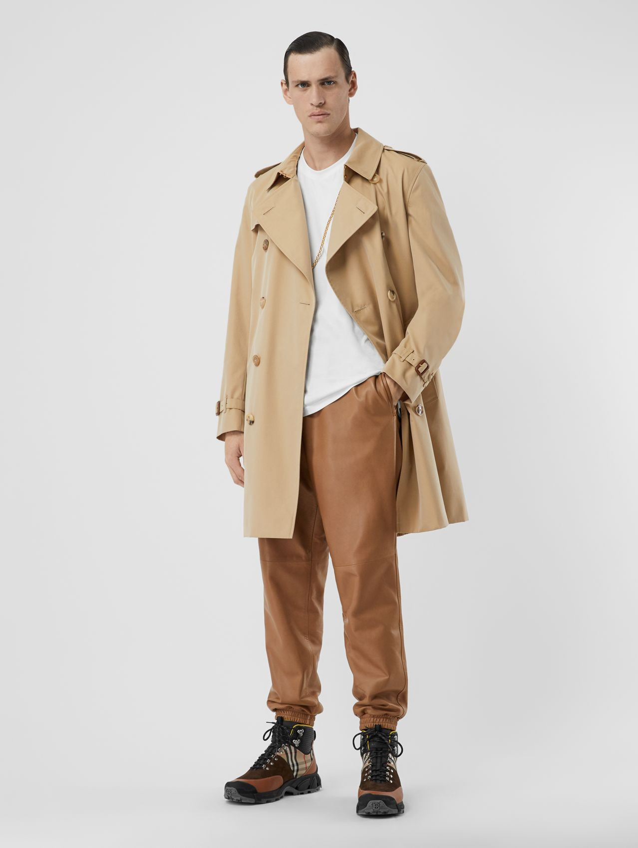 The Mid-length Kensington Heritage Trench Coat (Honey)
