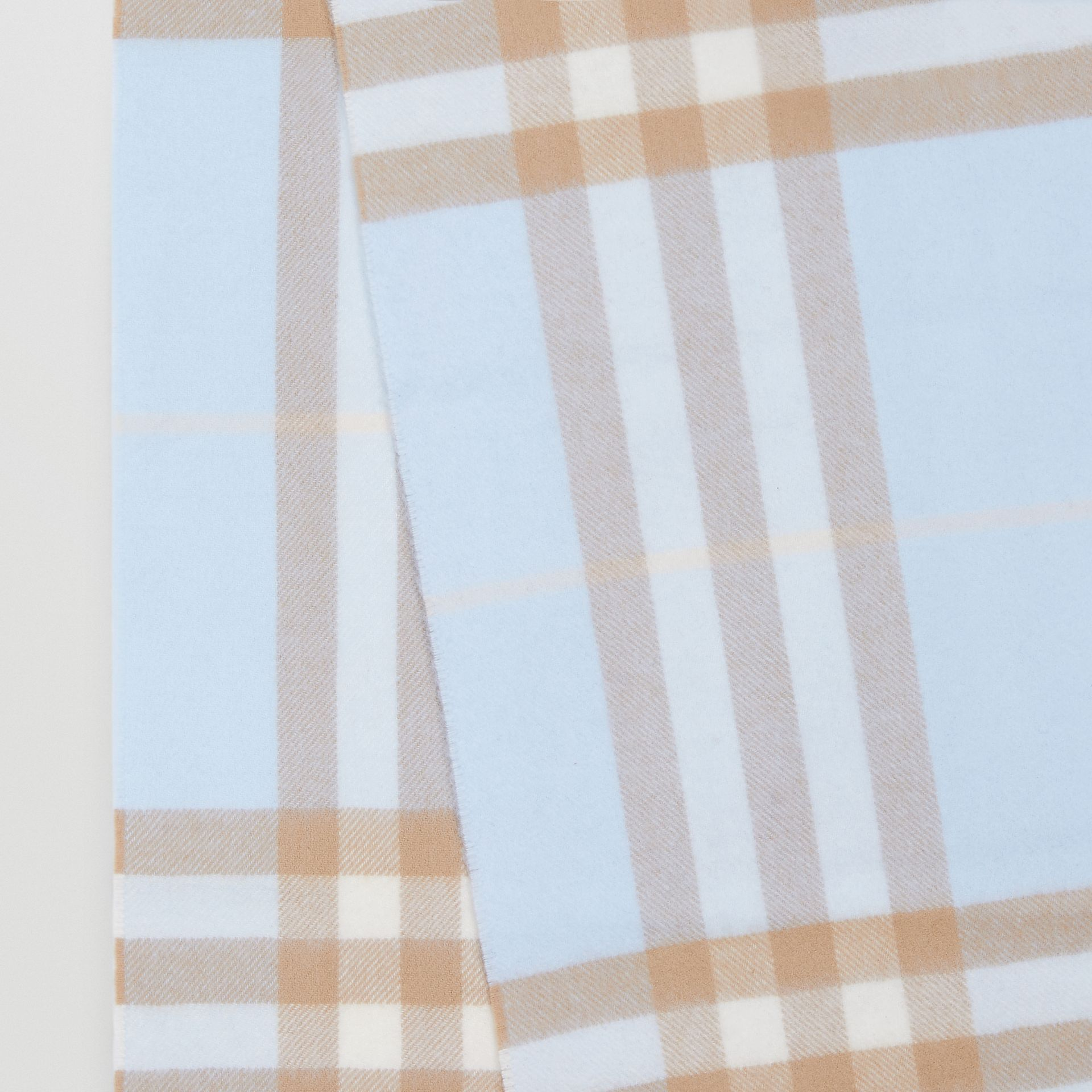 The Classic Check Cashmere Scarf in Blue | Burberry Singapore - gallery image 1
