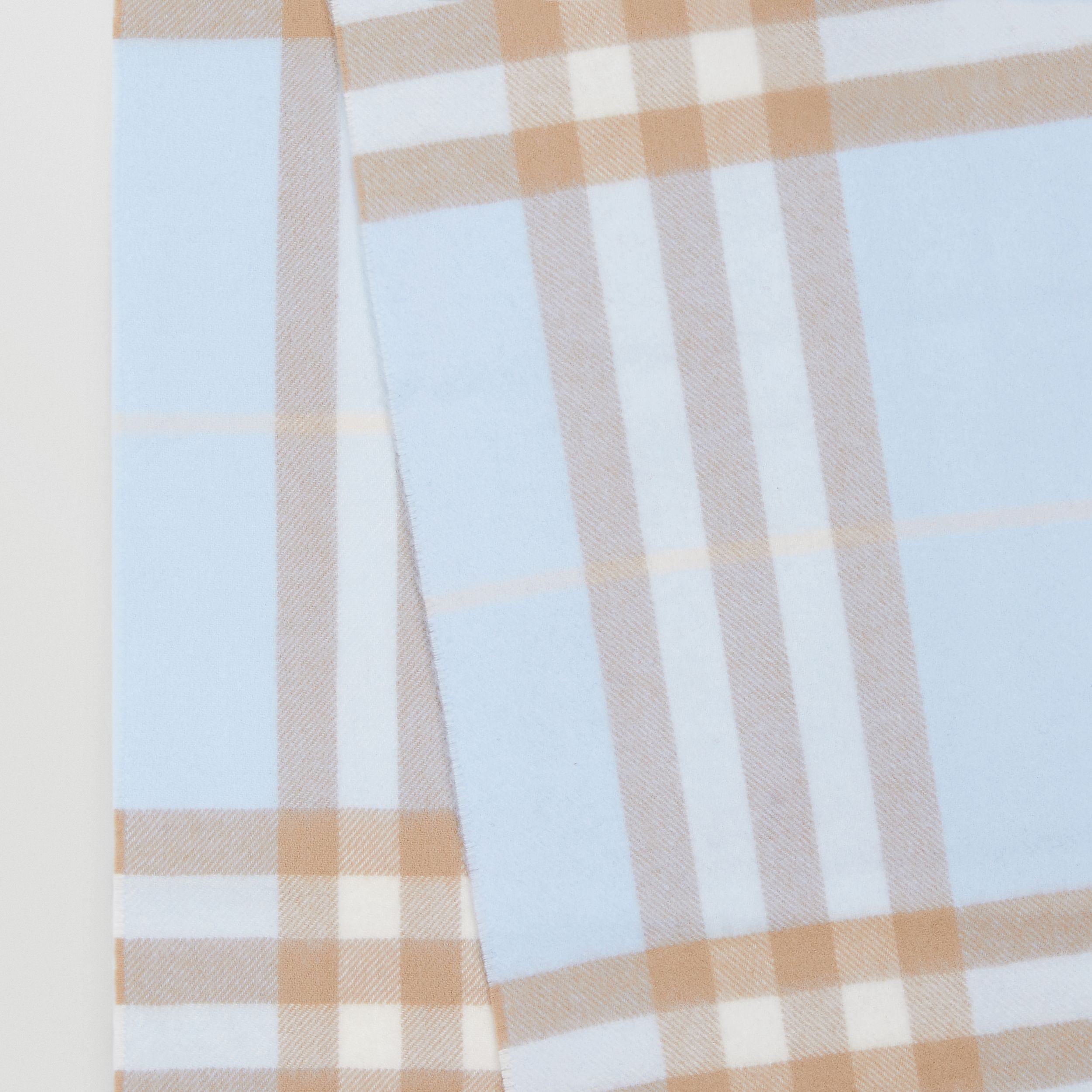 The Classic Check Cashmere Scarf in Blue | Burberry - 2