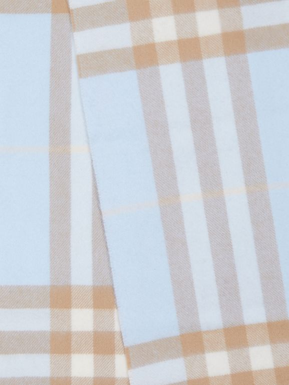 The Classic Check Cashmere Scarf in Blue | Burberry Singapore - cell image 1
