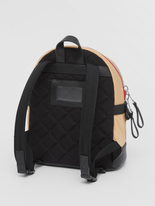 Logo Appliqué Icon Stripe ECONYL® Backpack in Archive Beige - Children | Burberry United Kingdom - cell image 2