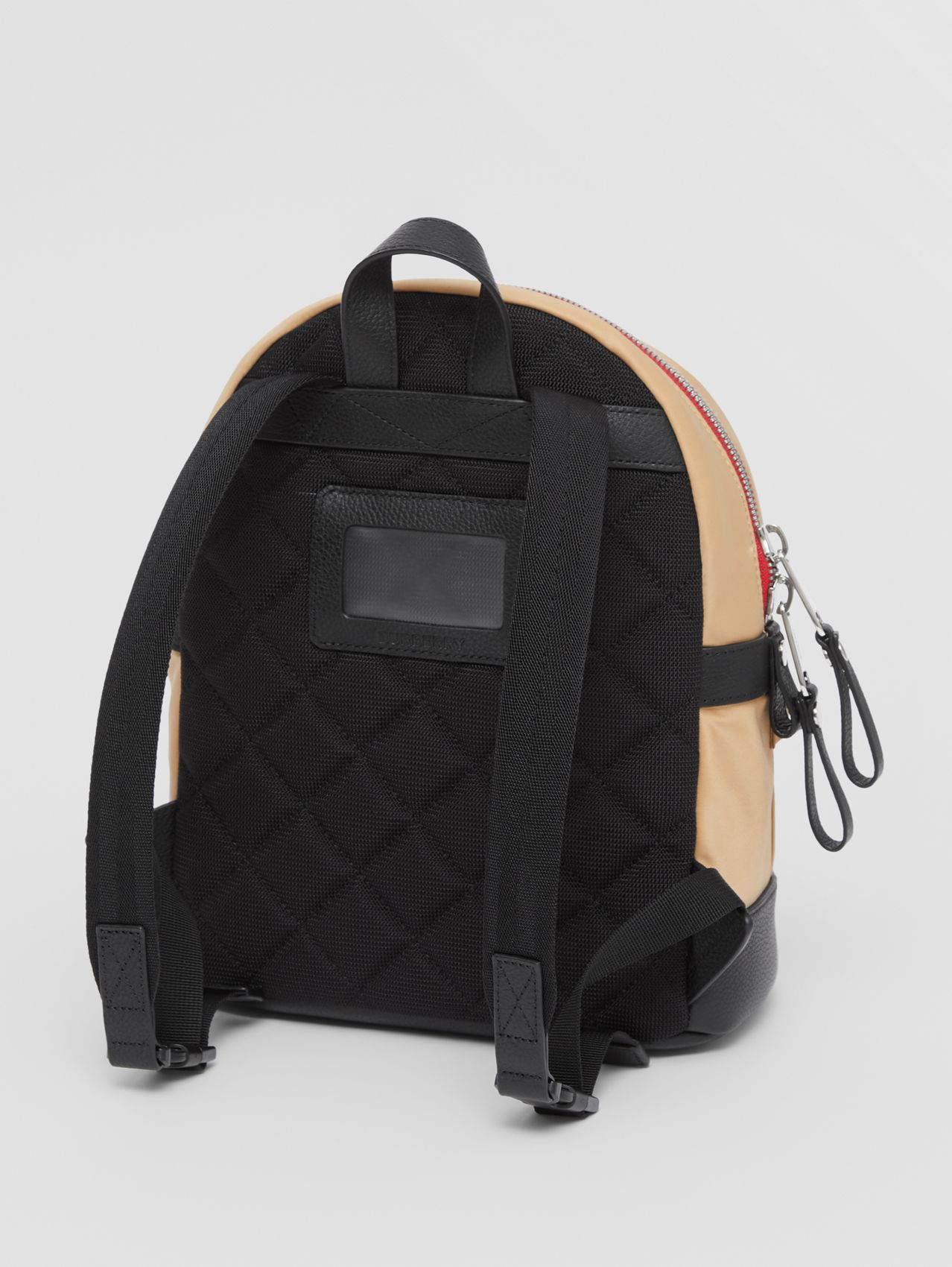 Logo Appliqué Icon Stripe ECONYL® Backpack (Archive Beige)