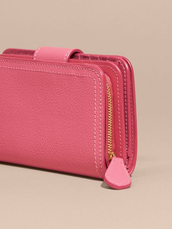 Pink azalea Buckle Detail Grainy Leather Wallet Pink Azalea - cell image 3