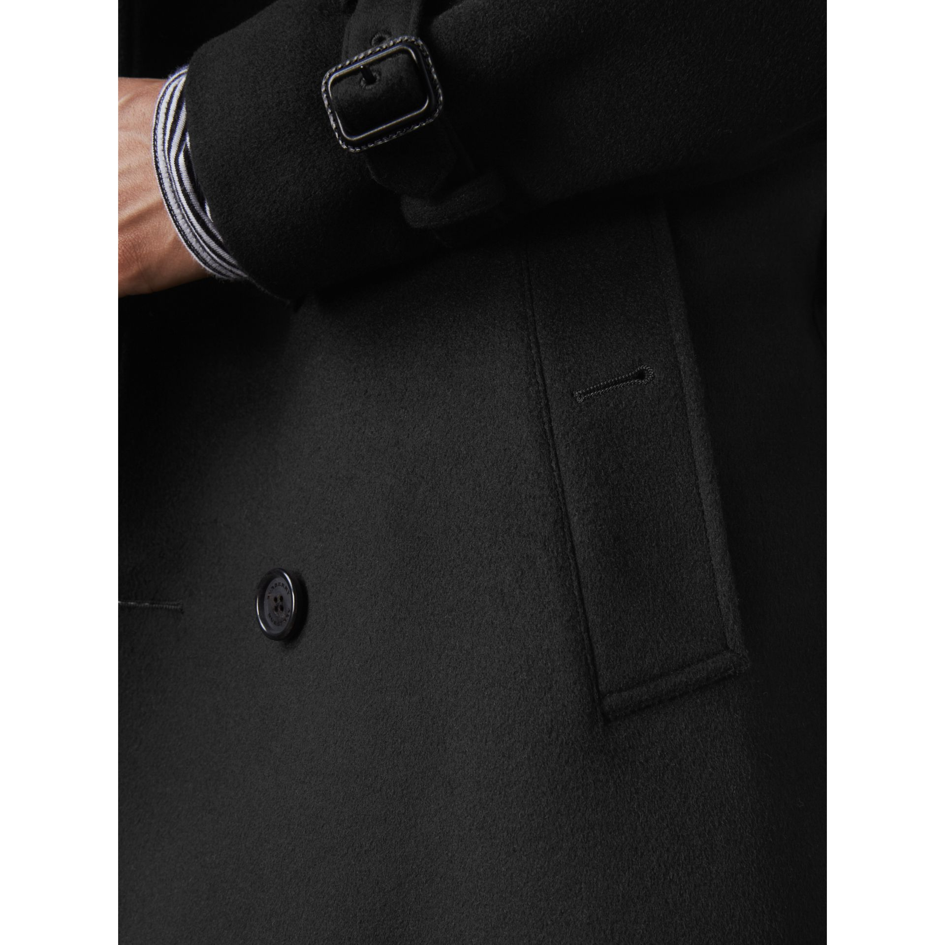 Wool Cashmere Trench Coat in Black - Men | Burberry - gallery image 1