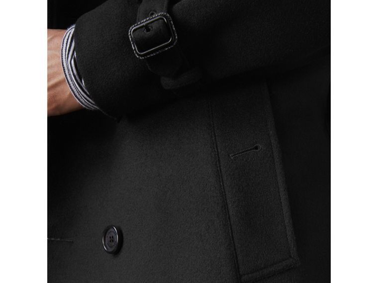 Wool Cashmere Trench Coat in Black - Men | Burberry Australia - cell image 1