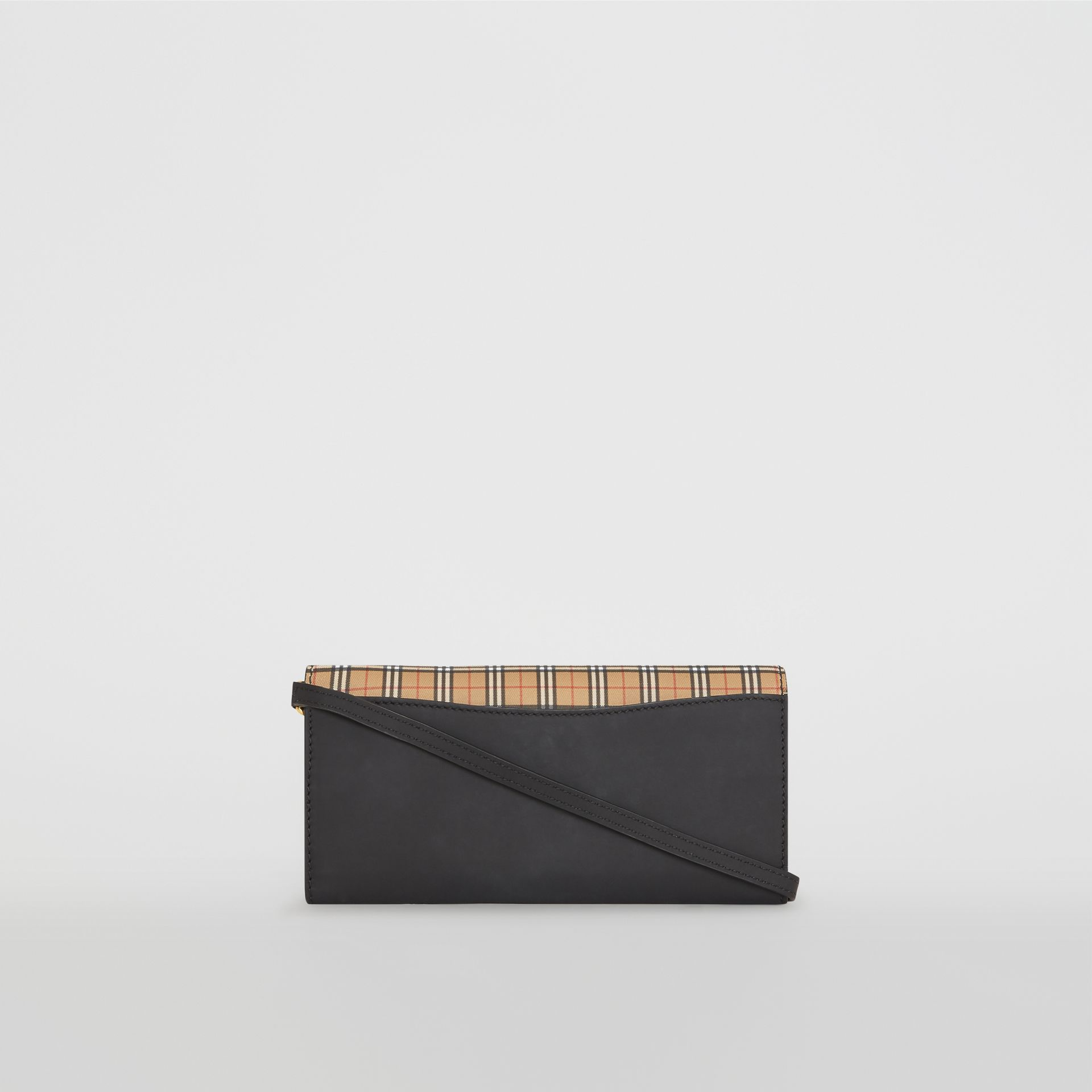 Small Scale Check Wallet with Detachable Strap in Antique Yellow - Women | Burberry - gallery image 6