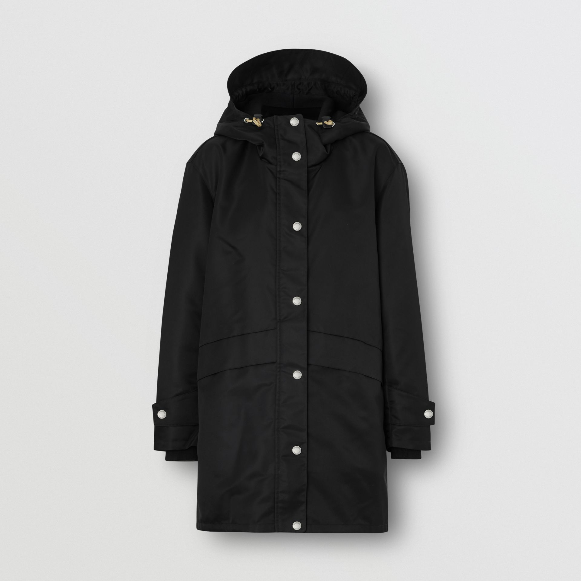 Horseferry Print Nylon Twill Parka in Black - Women | Burberry United Kingdom - gallery image 3