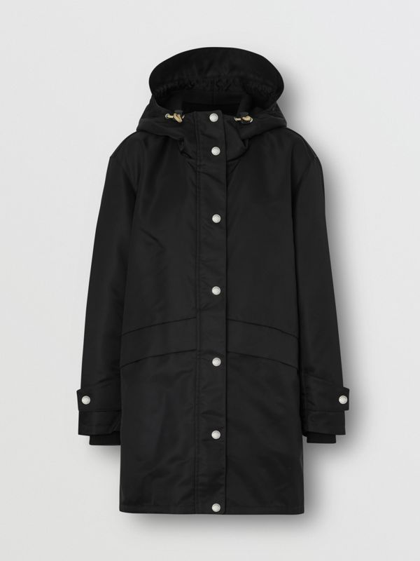 Horseferry Print Nylon Twill Parka in Black - Women | Burberry - cell image 3