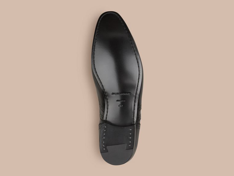 Black Classic Leather Brogues - cell image 4