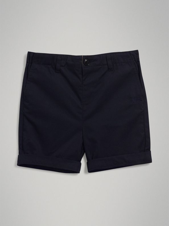 Cotton Chino Shorts in Ink