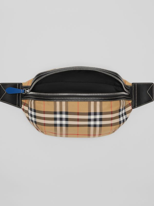 Medium Vintage Check Bum Bag in Antique Yellow | Burberry - cell image 3