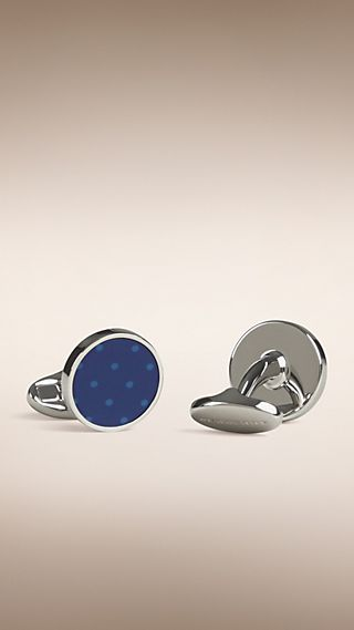 Polka Dot Round Cufflinks